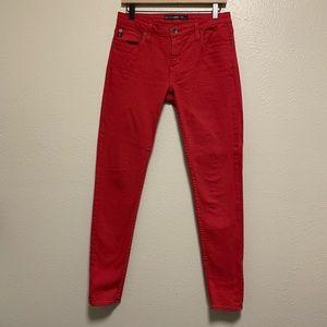 Big Star red Alex mid rise skinny jeans